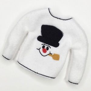 Embroidered Christmas Elf Frosty Snowman Sweater